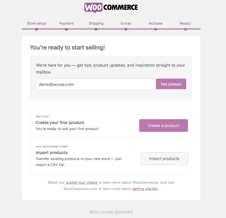WooCommerce WordPress Ready