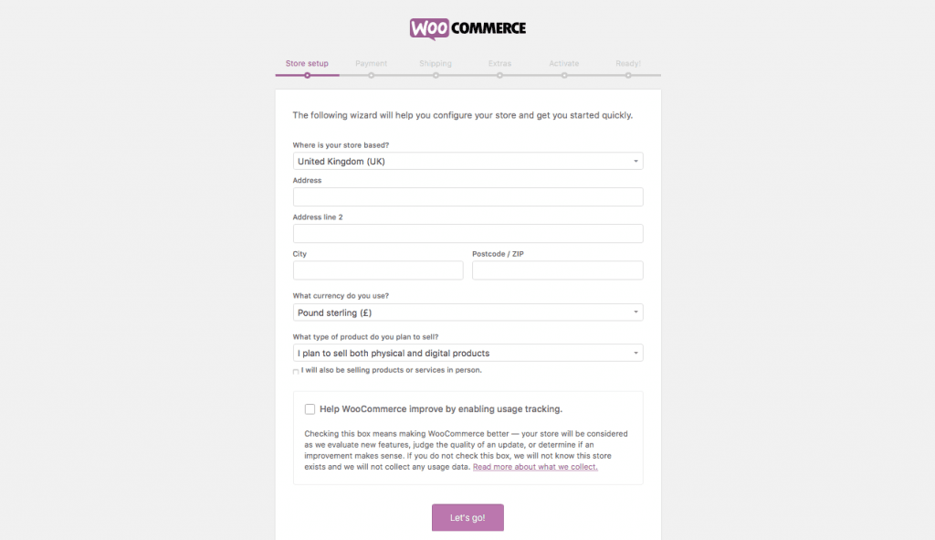 WooCommerce WordPress Store Setup